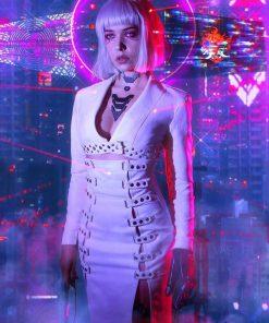 Night City Neon Girl Coat