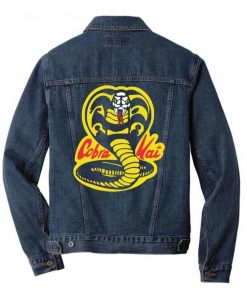 The Karate Kid Cobra Kai Logo Blue Denim Jacket
