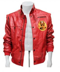 johnny Lawrence Cobra Kai Red Bomber Jacket