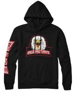 Cobra Kai Eagle Fang Karate Kid Black Hoodie