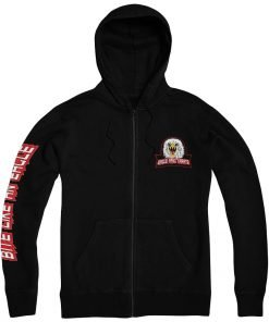 Cobra Kai Eagle Fang Karate Black Zip Up Pullover Hoodie