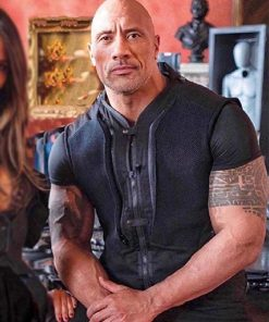 Luke Hobbs Fast & Furious Hobbs & Shaw Dwayne Johnson Black Cotton Vest