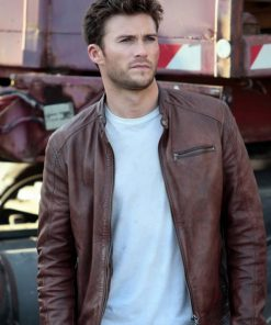 The Fate of the Furious Scott Eastwood Brown Leather Jacket