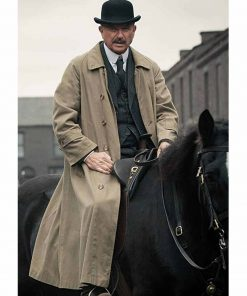 Sam Neill Peaky Blinders Inspector Chester Campbell Trench Cotton Coat
