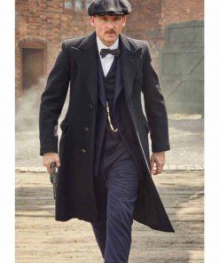 Arthur Shelby TV Series Peaky Blinders Black Wool Trench Coat