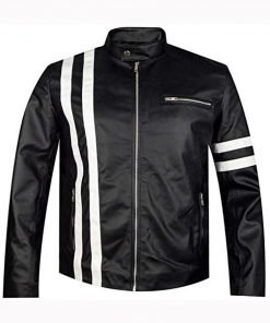Vin Diesel The Fate of The Furious Premiere Cafe Racer Jacket