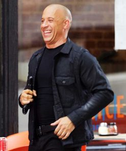 Dominic Toretto The Fate Of The Furious 8 Vin Diesel Black Cotton Jacket