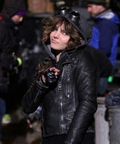 Camren Bicondova Gotham Selina Kyle Catwoman Leather Jacket