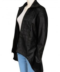 Camren Bicondova Gotham Series Selina Kyle Black Leather Jacket