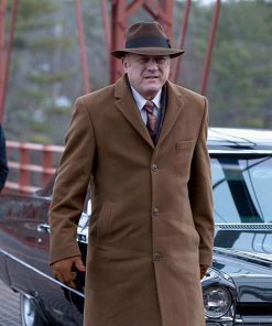 John Doman TV Series Gotham Carmine Falcone Brown Long Coat