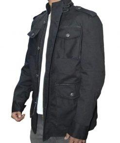 Frank Castle The Punisher Jon Bernthal Black Cotton Jacket