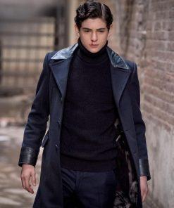 Bruce Wayne Gotham Sereis David Mazouz Blue Long Coat