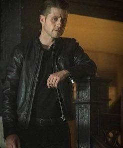 James Gordon Black Leather Jacket