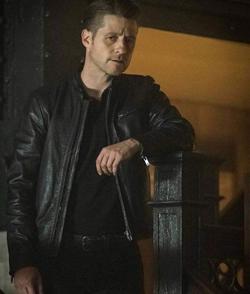 James Gordon Black Leather Jacket