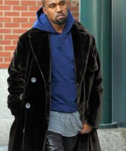 Mens Long Brown Velvet Kanye West Coat
