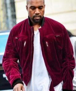 Kanye-West-Maroon-Jacket