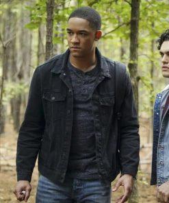 Rafael Waithe Legacies TV Series Peyton Alex Smith Black Cotton Jacket
