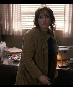 Winona Ryder Stranger Things Joyce Byers Brown Corduroy Coat