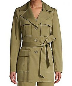 TV Series 9-1-1 Season 04 Angela Bassett Olive Trench Coat