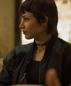 Úrsula Corberó TV Series Money Heist Tokio Black Cotton Bomber Jacket