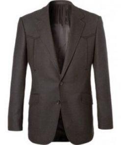 Agent Champagne Kingsman The Golden Circle Jeff Bridges Grey Blazer Jacket