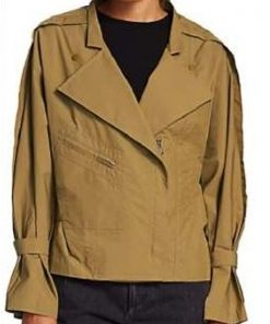 Angela Bassett TV Series 9-1-1 Athena Grant Green Cotton Jacket