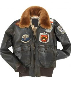 Top Gun Women's Brown Leather Jacket