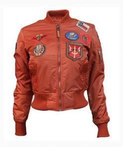 Women's Top Gun MA-1 Rust Bomber Jacket