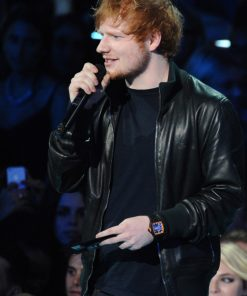 Ed Sheeran Bomber Leather Jacket