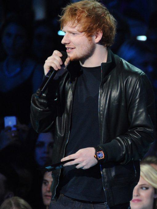 Ed Sheeran Bomber Leather Jacket