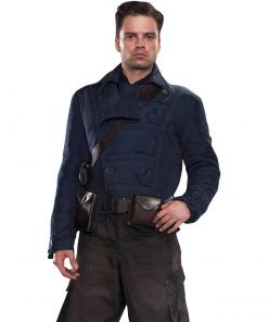 Bucky Barnes WW2 Blue Jacket
