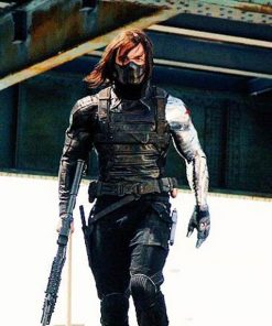 Bucky Barnes Winter Soldier Silver Armor Jacket
