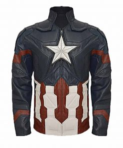 Civil War Captain America Leather Jacket