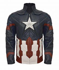 Civil War Captain America Leather Jacket