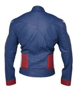 Chris Evans Captain America The Avengers Blue Leather Jacket
