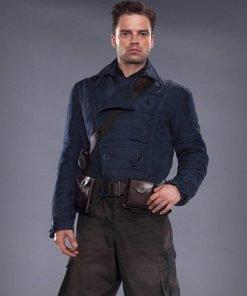 Bucky Barnes WWII Blue Jacket