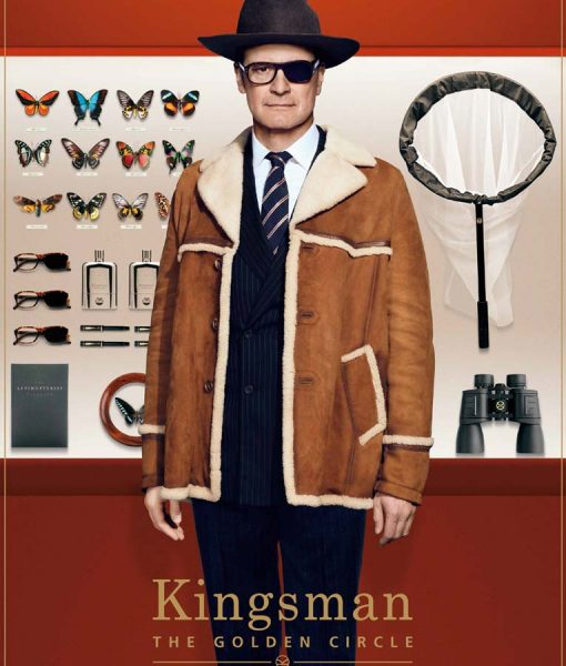 Kingsman Harry Hart Fur Jacket