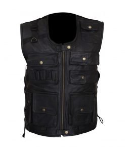 Dean Ambrose Black Leather Vest