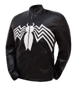 Eddie Brock Venom Tom Hardy Black Leather Jacket