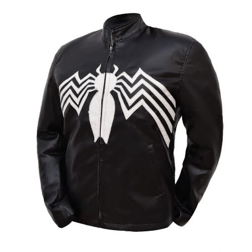 Eddie Brock Venom Tom Hardy Black Leather Jacket