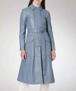 Eve Best Fate The Winx Season 1 Saga Farah Dowling Blue Leather Coat