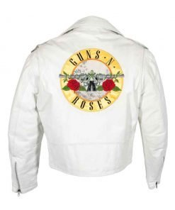 Guns N Roses Paradise City White Motorcycle Leather Jacket