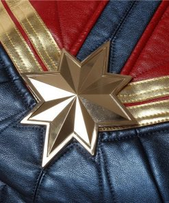 Carol Danvers Captain Marvel Cosplay Leather Vest