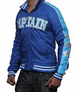 Jai Courtney Suicide Squad George Harkness Blue Bomber Jacket