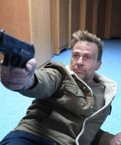 Jason Hill Assault on VA-33 (2021) Sean Patrick Flanery Green Sherpa Jacket
