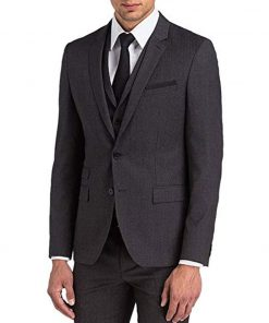 John Wick Charcoal Gray Three Piece Suit