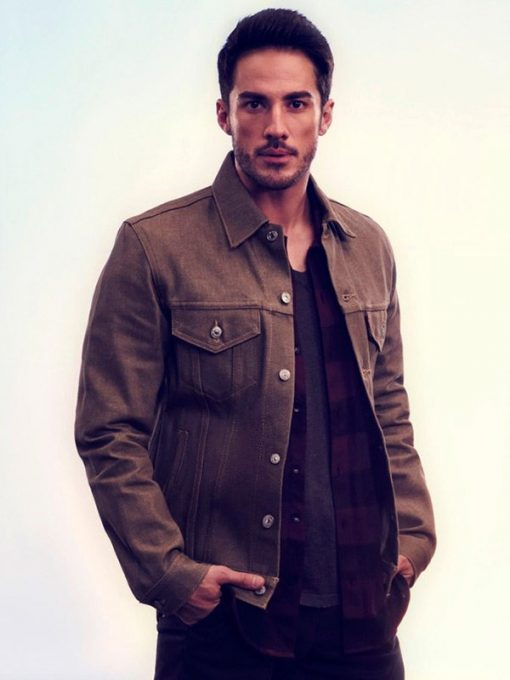 Roswell New Mexico Kyle Valenti Brown Jacket