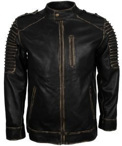 Suicide Squad Joker Black Biker Leather Jacket