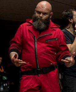 La Casa De Papel TV Series Money Heist Red Hooded Cotton Jacket
