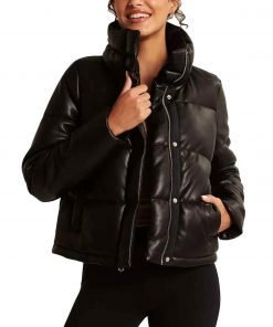 Nancy Drew S02 George Fan Leather Puffer Jacket